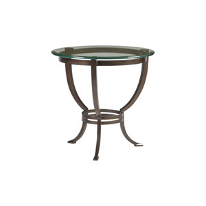 Metal Designs Antique Copper Andress Round End Table