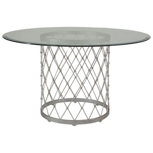 Metal Designs Argento Royere Dining Table With 54 In. Glass Top