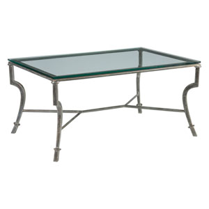 Metal Designs St. Laurent Syrah Small Rectangular Cocktail Table