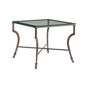 Metal Designs Antique Copper Syrah Square End Table