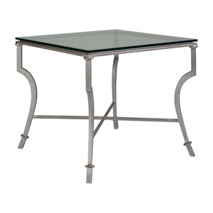 Metal Designs Argento Syrah Square End Table