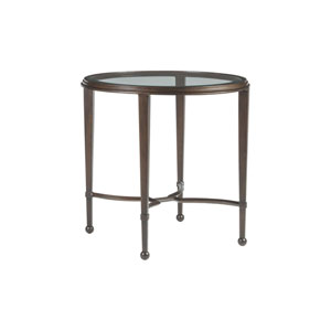 Metal Designs Antique Copper Sangiovese Round End Table
