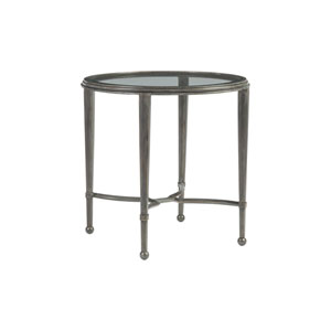 Metal Designs St. Laurent Sangiovese Round End Table