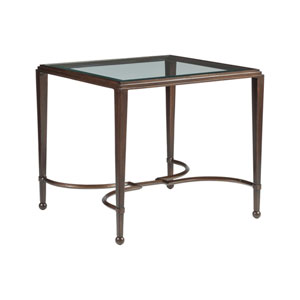 Metal Designs Antique Copper Sangiovese Rectangular End Table