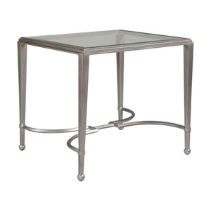 Metal Designs Argento Sangiovese Rectangular End Table
