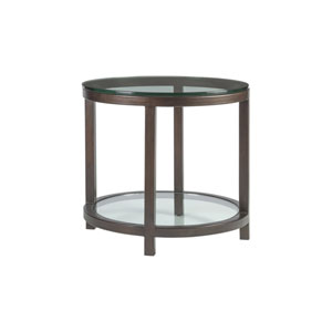Metal Designs Antique Copper Per Se Round End Table