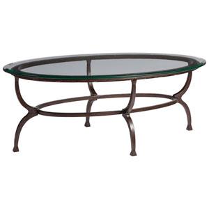 Metal Designs Antique Copper Patois Oval Cocktail Table