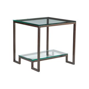 Metal Designs Antique Copper Bonaire Square End Table