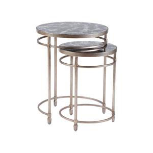 Signature Designs Argento Colette Round Nesting Tables