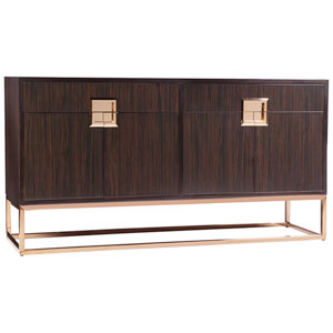 Signature Designs Gold Leaf and Brown Casanova Sideboard