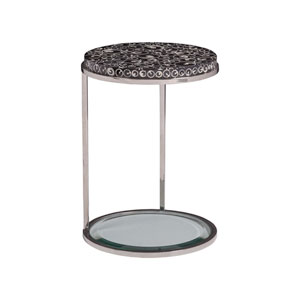 Signature Designs Black and Stainless Steel Mariana Round Spot Table