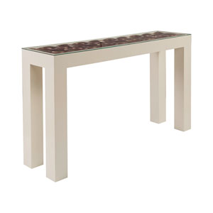 Signature Designs Silver Leaf and Ivory Credo Console