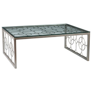 Metal Designs Argento Honeycomb Rectangular Cocktail Table