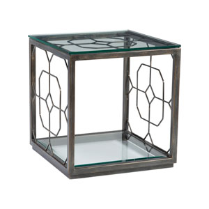 Metal Designs St. Laurent Honeycomb Square End Table