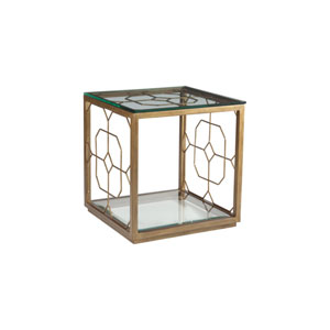 Metal Designs Renaissance Honeycomb Square End Table