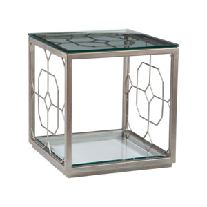 Metal Designs Argento Honeycomb Square End Table