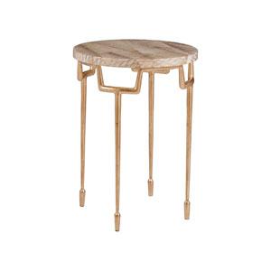 Signature Designs Gold Leaf Calypso Round Spot Table