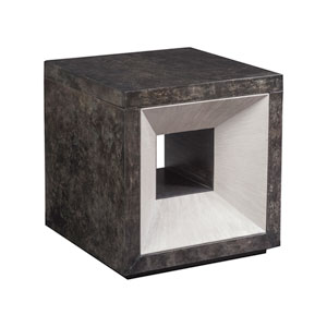 Signature Designs True Parchment and Light Gray Mantra Cube Table