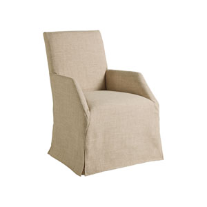Cohesion Program Marrone Fiona Arm Chair With Khaki Slipcover