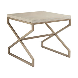 Cohesion Program Bianco Edict Square End Table