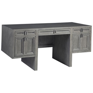 Signature Designs Gray and Nickel Doctrine Desk