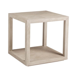 Cohesion Program Bianco Credence Square End Table