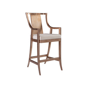 Signature Designs Silver Leaf and White Sirocco Barstool
