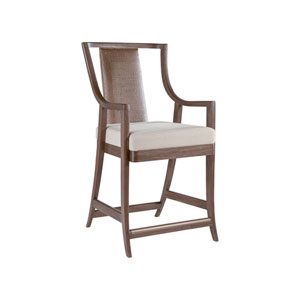 Cohesion Program Marrone Mistral Woven Counter Stool
