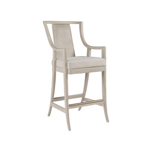 Cohesion Program Bianco Mistral Woven Barstool