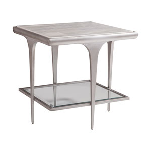 Signature Designs White Onyx Zephyr Square End Table