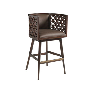 Signature Designs Dark Brown Vivace Swivel Barstool