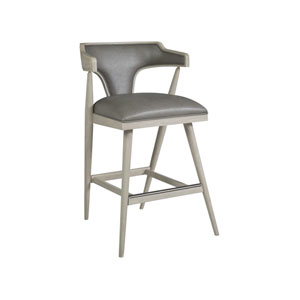 Signature Designs Gray and White Arne Barstool