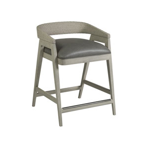 Signature Designs Gray and White Arne Low Back Counter Stool
