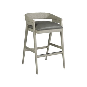 Signature Designs Gray and White Arne Low Back Barstool