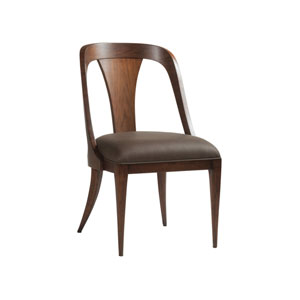 Signature Designs Walnut Beale Low Back Side Chair