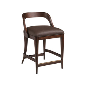 Signature Designs Walnut Beale Low Back Counter Stool