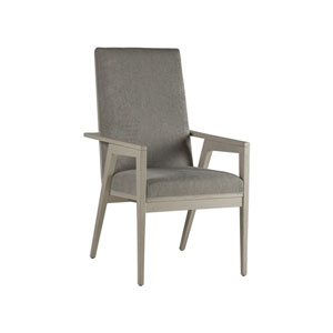 Signature Designs White and Gray Arturo Arm Chair