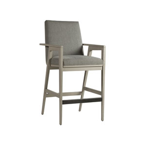 Signature Designs White and Gray Arturo Barstool
