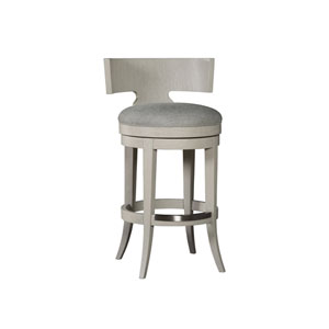 Signature Designs Light Gray Fuente Swivel Bar Stool