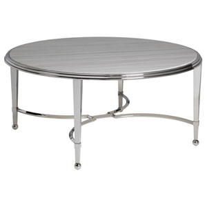 Signature Designs Stainless Steel Sangiovese Round Cocktail Table