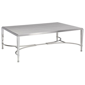 Signature Designs Stainless Steel Sangiovese Rectangle Cocktail Table