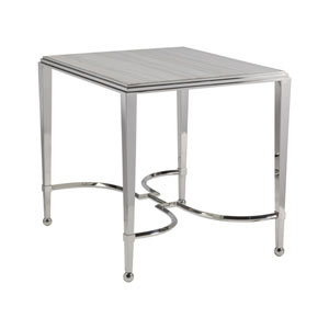 Signature Designs Stainless Steel Sangiovese Square End Table