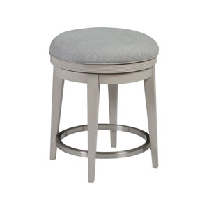 Signature Designs White Gray and Antique Silver Gradient Backless Counter Stool