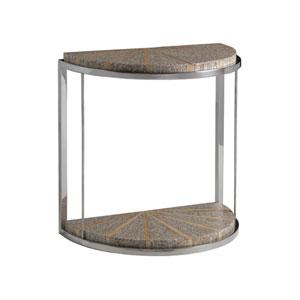 Signature Designs White Montez Demilune Spot Table