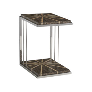 Signature Designs Brown and Stainless Steel Isabella Rectangle Spot Table