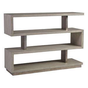 Signature Designs Light Gray and Silver Leaf Soiree Low Bookcase