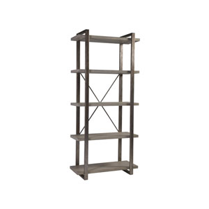 Signature Designs Light Gray and Silver Leaf Soiree Etagere