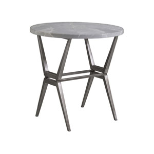 Signature Designs Gray Cirro Round End Table