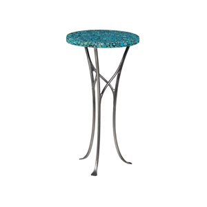 Signature Designs Turquoise and Pewter Isidora Turquoise Spot Table