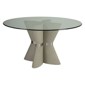 Signature Designs Gray and Silver Zeitgeist Dining Table